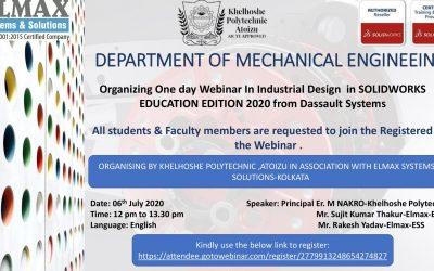 DEPARTMENT OF MECHANICAL ENGINEEING -Khelhoshe-1